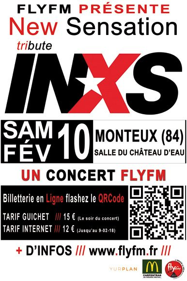 Concert FlyFM - New Sensation tribute INXS