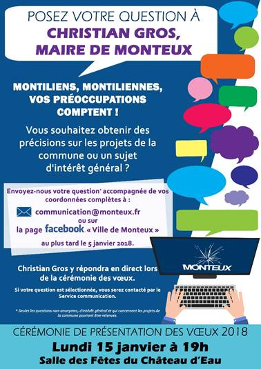 Posez votre question à Christian Gros, maire de Monteux