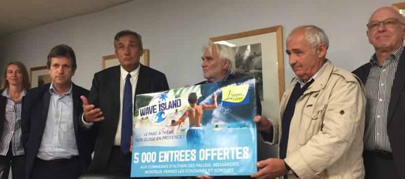 WAVE ISLAND offre 5000 entrées