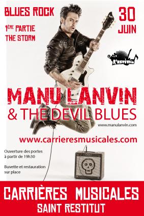 Concert Manu Lanvin à St Restitut – Drôme Provençale