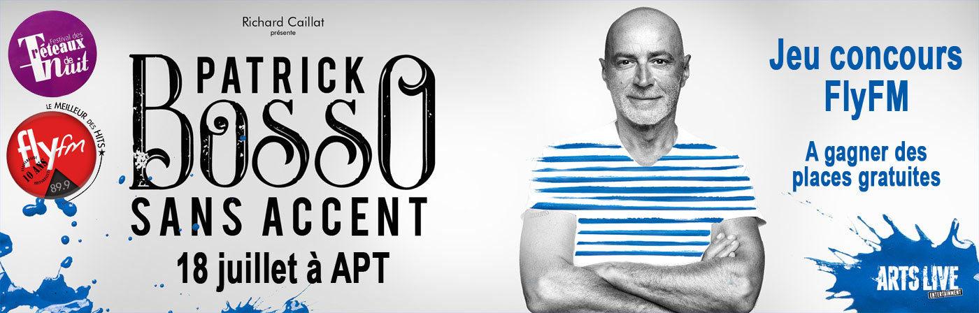 Patrick Bosso, le 18 juillet à Apt - Festival LesTréteaux de Nuit