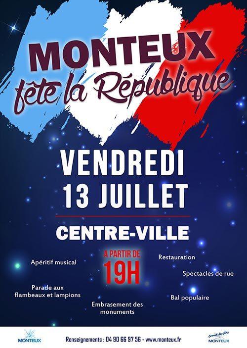 Fête de la République - Vendredi 13 juillet 2018 à Monteux