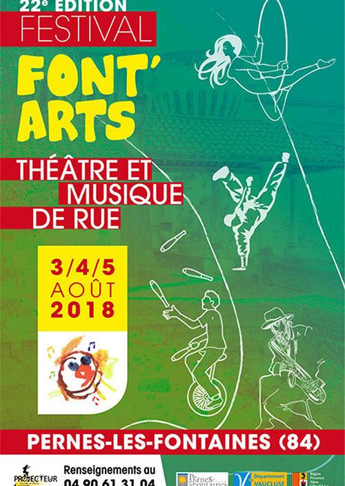 Font Arts à Pernes les Fontaines - Les 03-04 & 05 août 2018 au