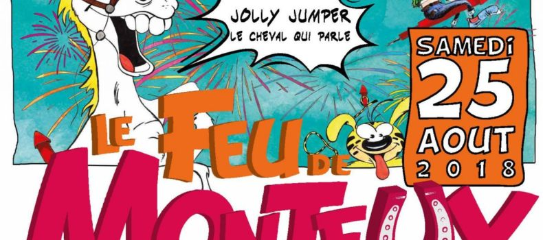 Feu d'artifice à Monteux  : Jolly Jumper à l'honneur