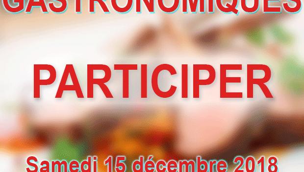 Jeux concours – 2 repas gastronomiques – Marché de Noel
