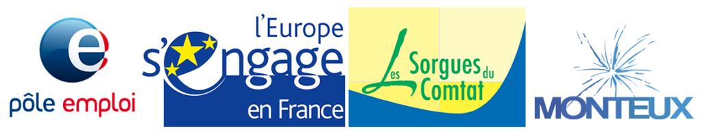 Partenaires : Pôle Emploi - Union européenne - Communauté de Communes Les Sorgues du Comtat - Ville de Monteux