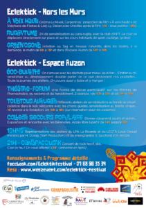 Eclektick Festival Programme