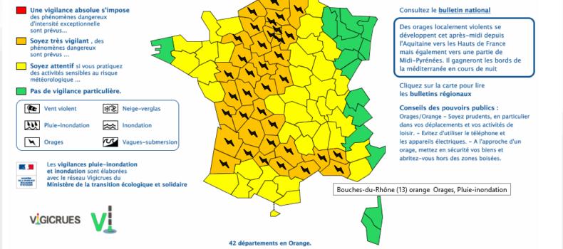 Alerte Météo en Vaucluse
