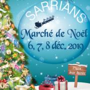 Affiche marché de Noël 2019 Sarrians