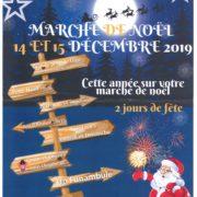 Affiche marché de noël 2019 Loriol du Comtat