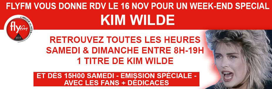 week-end spécial Kim Wilde - Samedi 16 Novembre 2019