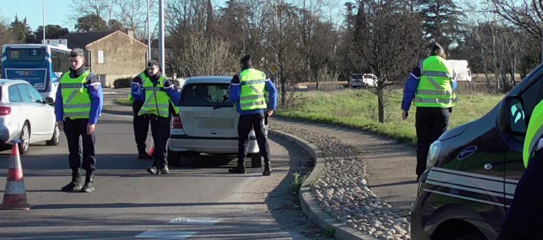 Opération sécurité routière en Vaucluse