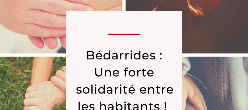 Bédarrides-Une grande solidarité entre les habitants