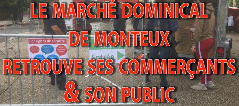 MARCHÉ DOMINICAL DE MONTEUX AFFICHE AU COMPLET