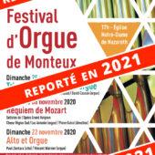 11ème Festival d'Orgue Reporté en 2021