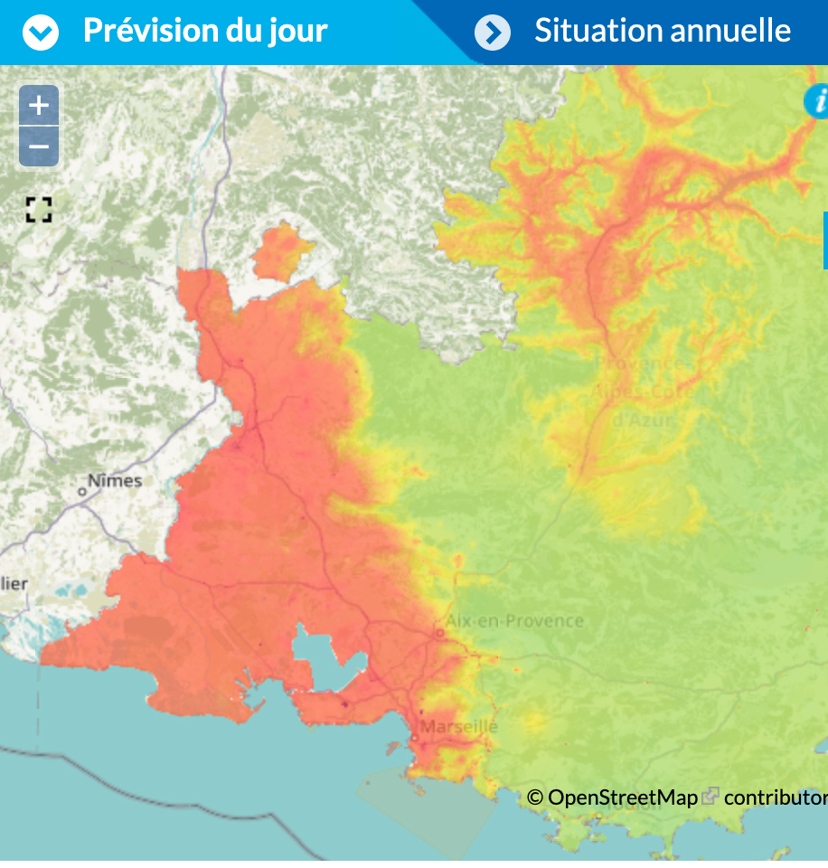 Pollution de l'air en vaucluse (04-03-2021)