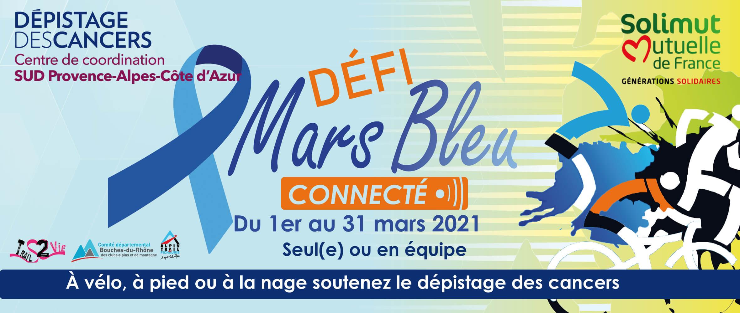 Défi National - MarsBleu Connecté - Tous pour le déistage du cancer colorectal