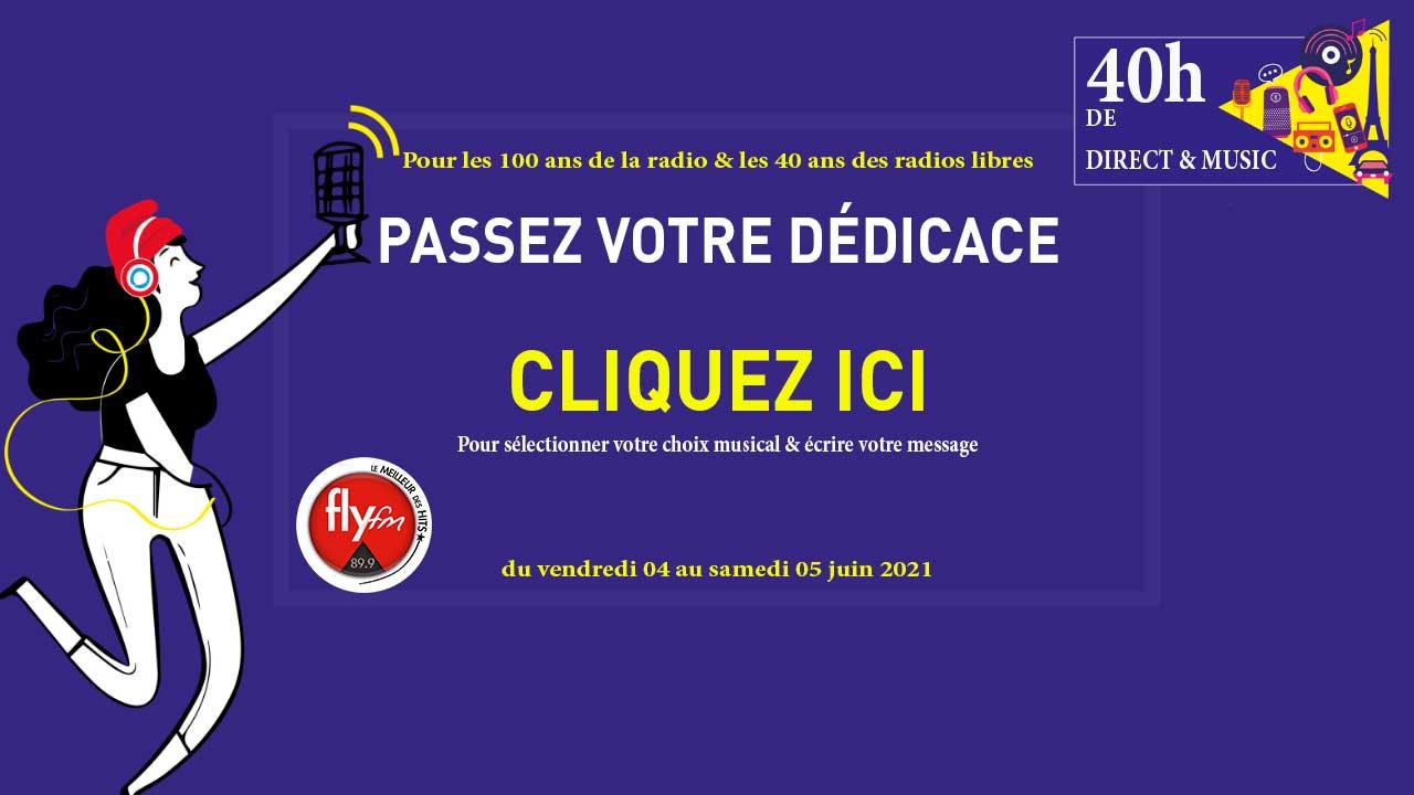 Passez une dédicace sur FlyFM à l'occasion de la fête de la radio