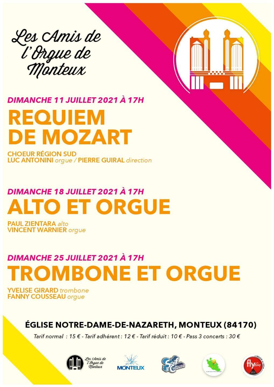 Les Amis de l'Orgue : Concert été 2021- MONTEUX